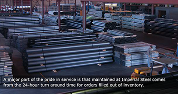 Imperial Steel 24-hour turnaround order filling