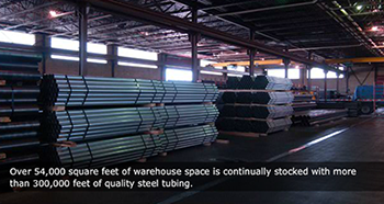 300000 feet of quality steel tubing